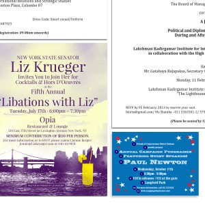 Political Invitations