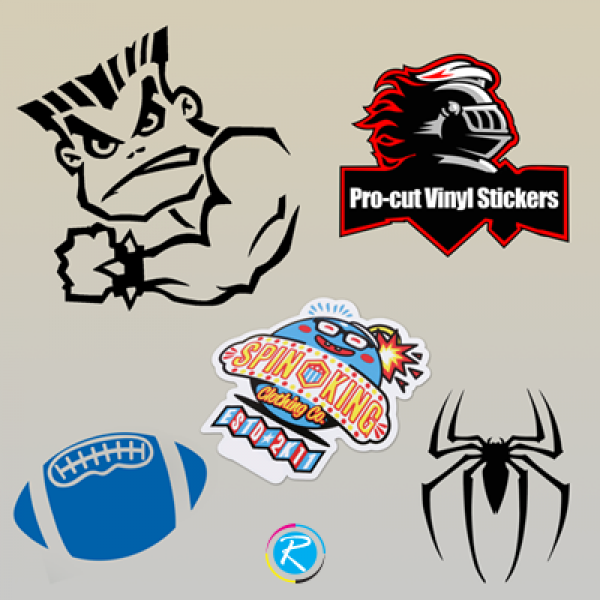 Printed Pro-cut Vinyl Stickers