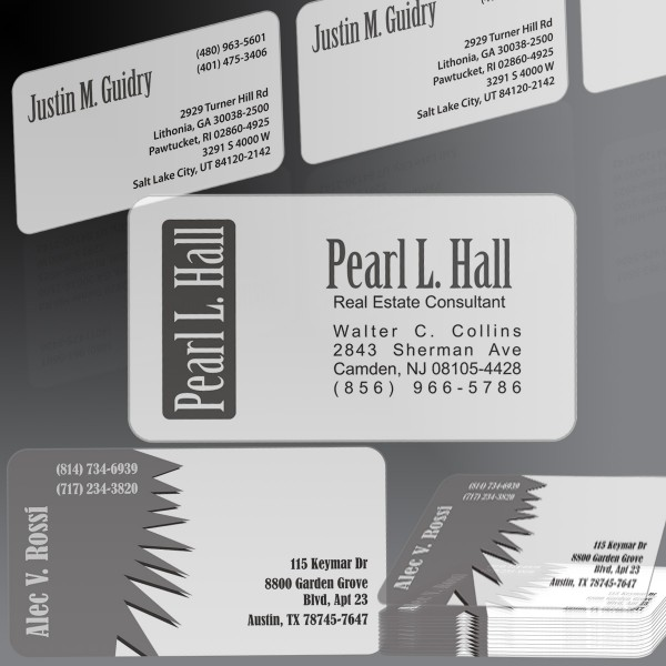 Translucent Business Cards 2