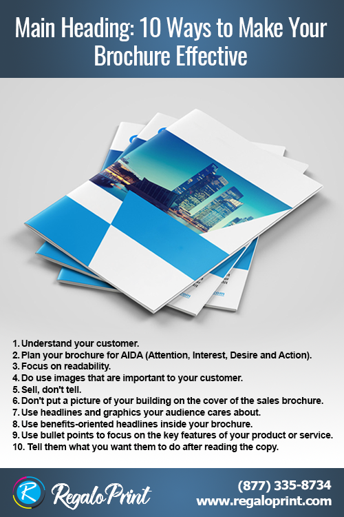 10 Ways to make brochure printing effective