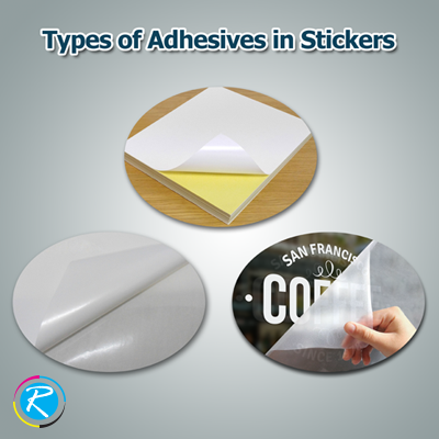 Self adhesive types for stickers